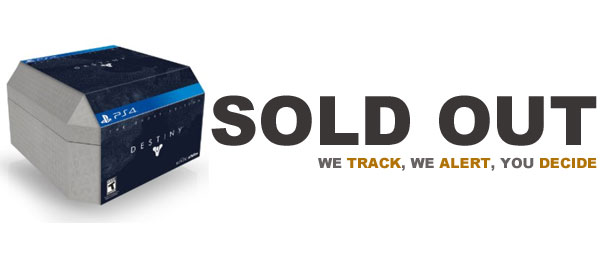 Destiny ghost sold out we track we alert you decide